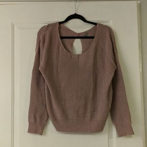 Purple Charlotte Russe open knit knotted sweater